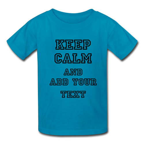 Customize it! - Kids' T-Shirt - turquoise
