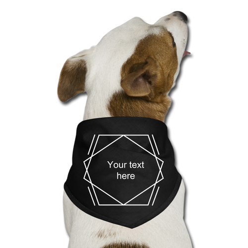 Customize it! - Dog Bandana - black
