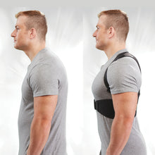 Load image into Gallery viewer, Hempvana Arrow Posture side by side of a man without and with arrow posture
