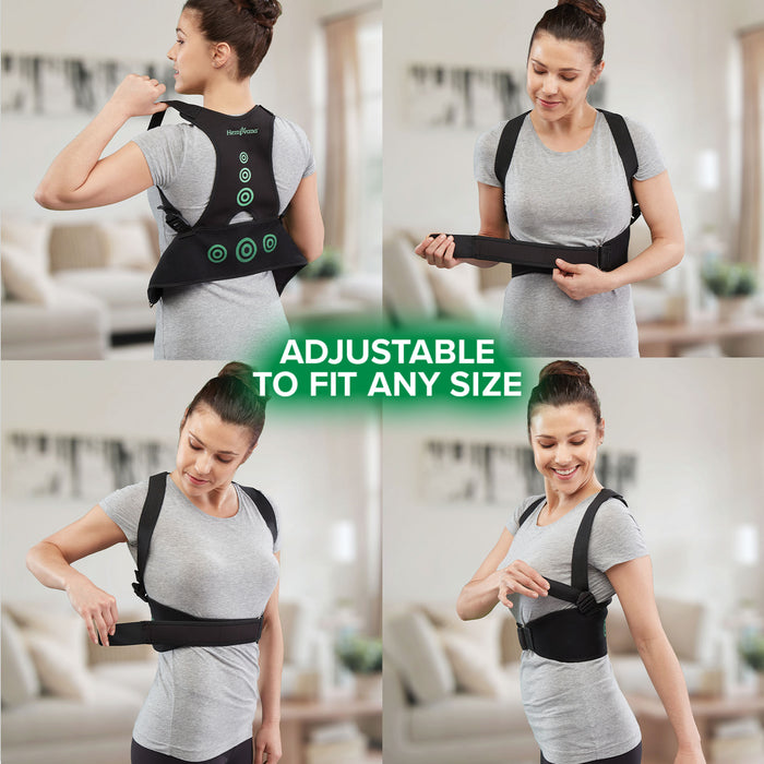 Hempvana Arrow Posture in use adjustable to fit any size