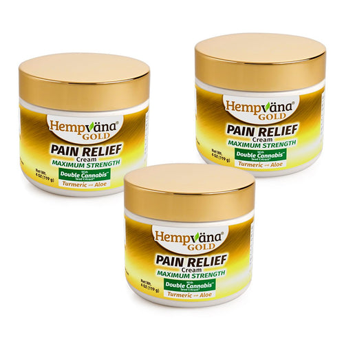 3pk Gold Pain Relief Cream + Turmeric & Aloe