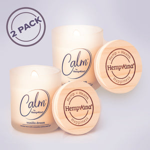 Calm by Hempvana Vanilla Dream Scented Candle 2-pack
