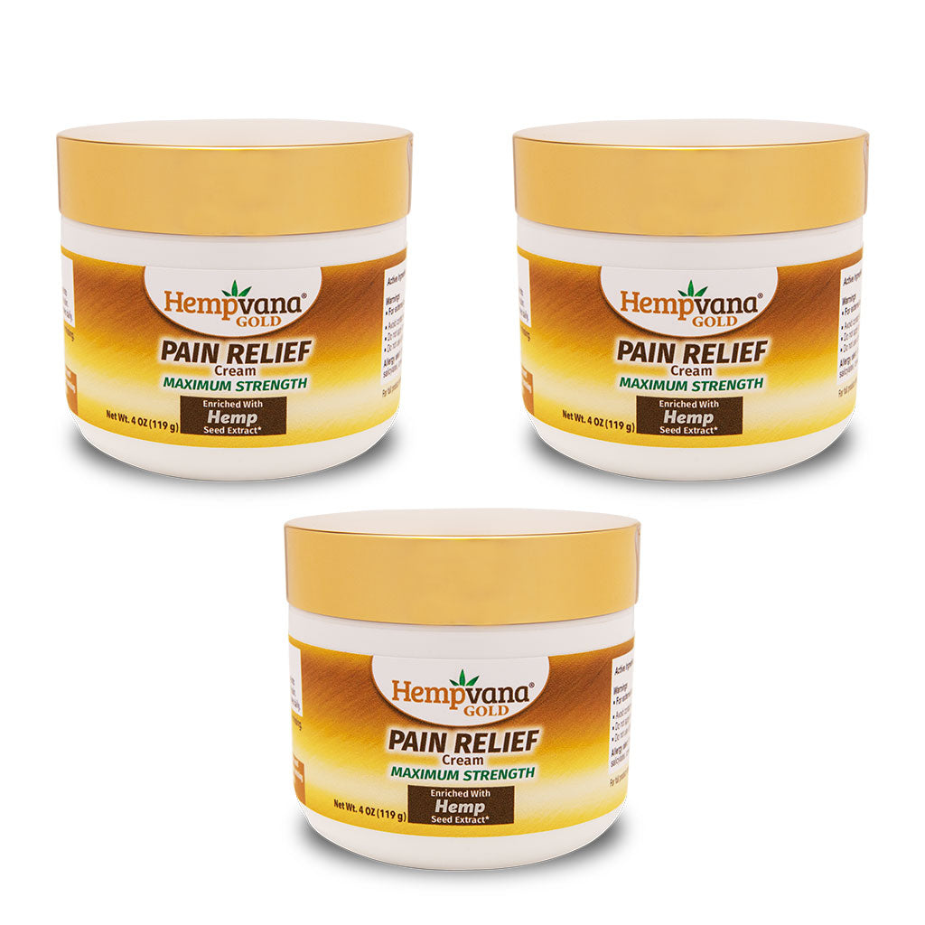 Hempvana Gold Pain Relief Cream 3-Pack silo image