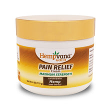 Load image into Gallery viewer, Hempvana Gold Pain Relief Cream silo image
