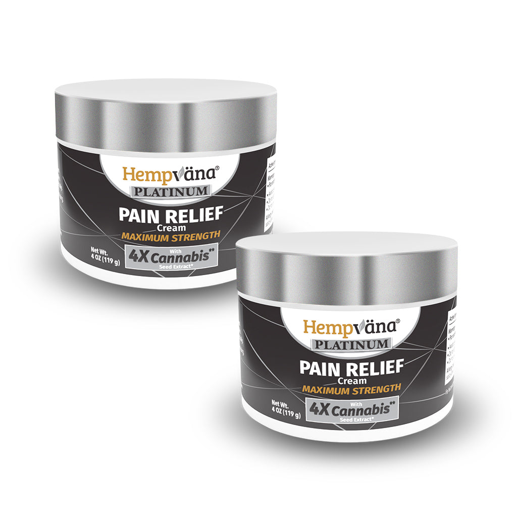Hempvana Platinum Pain Relief Cream 2-Pack