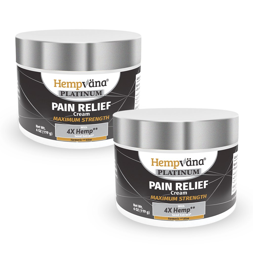 2pk Platinum Pain Relief Cream + Turmeric & Aloe