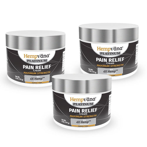 3pk Platinum Pain Relief Cream + Turmeric & Aloe
