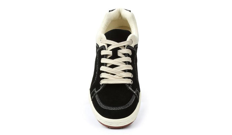 Black Suede Sneaker Comfortable Comfy Old School Eco Retro Shoe