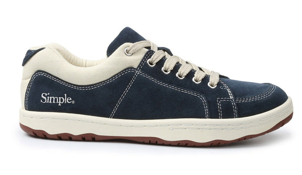 Navy Suede Sneaker Comfortable Comfy Old School Eco Retro Shoe