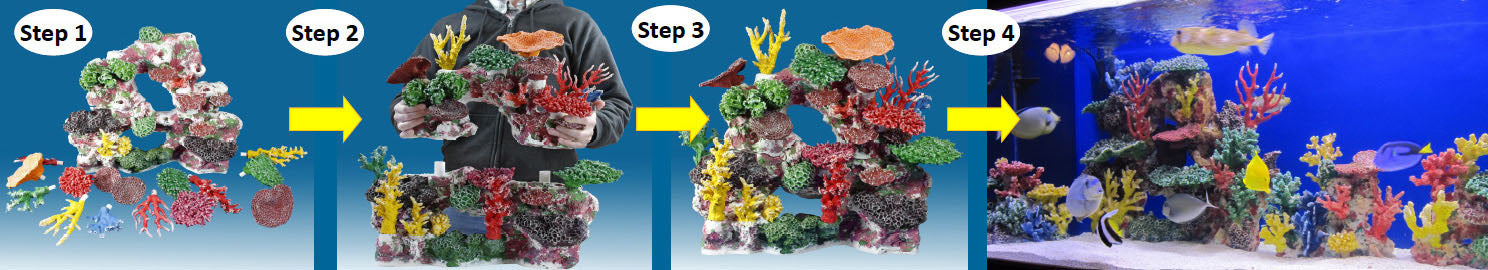 Instant Reef Plug and Play Artificial Coral Inserts for Custom Aquariums