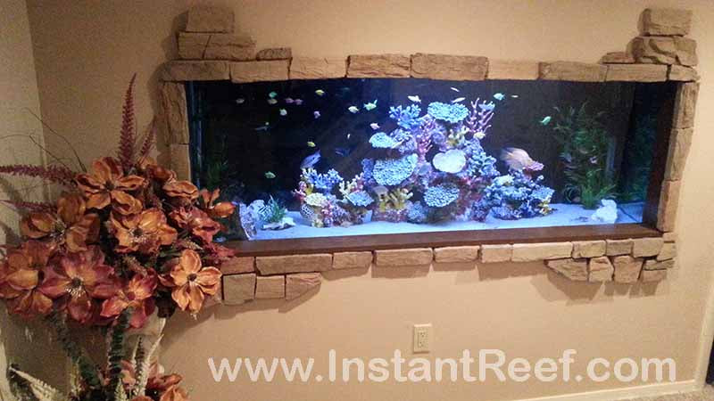 Design Colorful Custom Aquariums,  Freshwater Fake Coral Reef Tanks