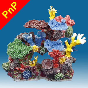 DM032PNP Large Coral Reef Aquarium Decoration for Saltwater Fish Tanks