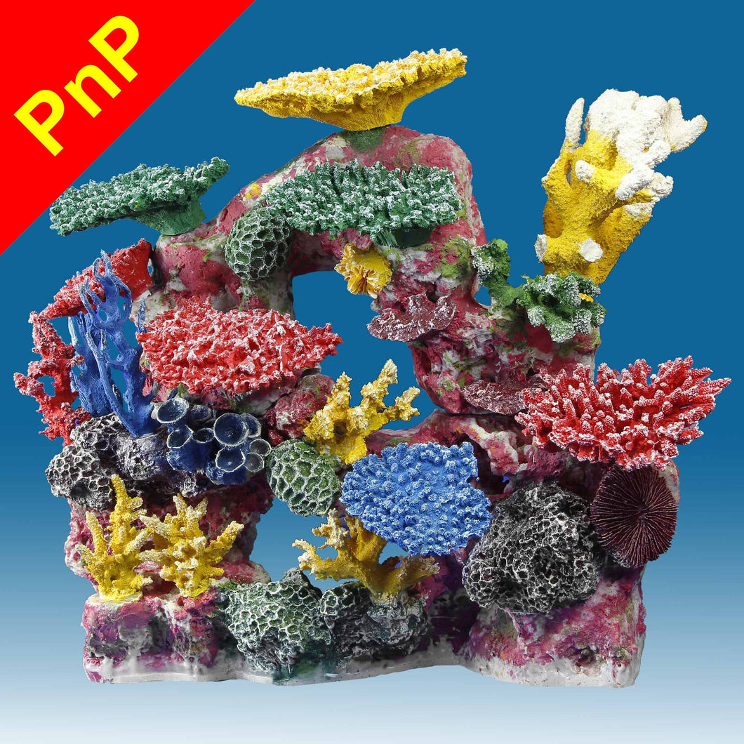 DM034PNP Large Coral Reef Aquarium Decoration for Saltwater Fish Tanks