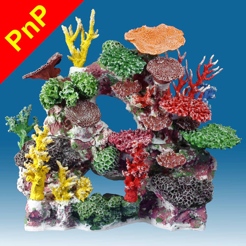 DM037PNP Large Coral Reef Aquarium Decoration for Saltwater Fish Tanks