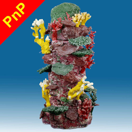 DM041PNP Cylinder Aquarium Decoration for Marine Fish Tanks