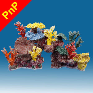 DM045PNP Medium Coral Reef Aquarium Decoration for Marine Fish Tanks