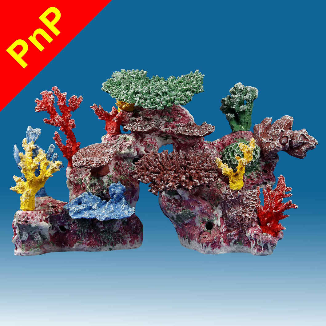 DM046PNP Medium Coral Reef Aquarium Decoration for Marine Fish Tanks