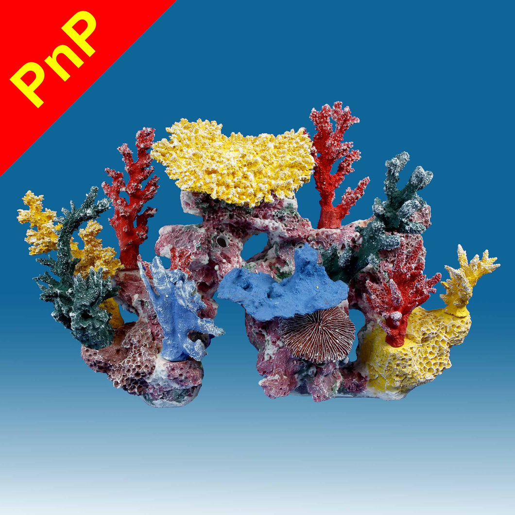DM047PNP Medium Coral Reef Aquarium Decoration for Marine Fish Tanks