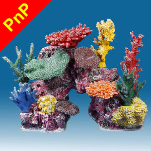 DM048PNP Medium Coral Reef Aquarium Decoration for Marine Fish Tanks