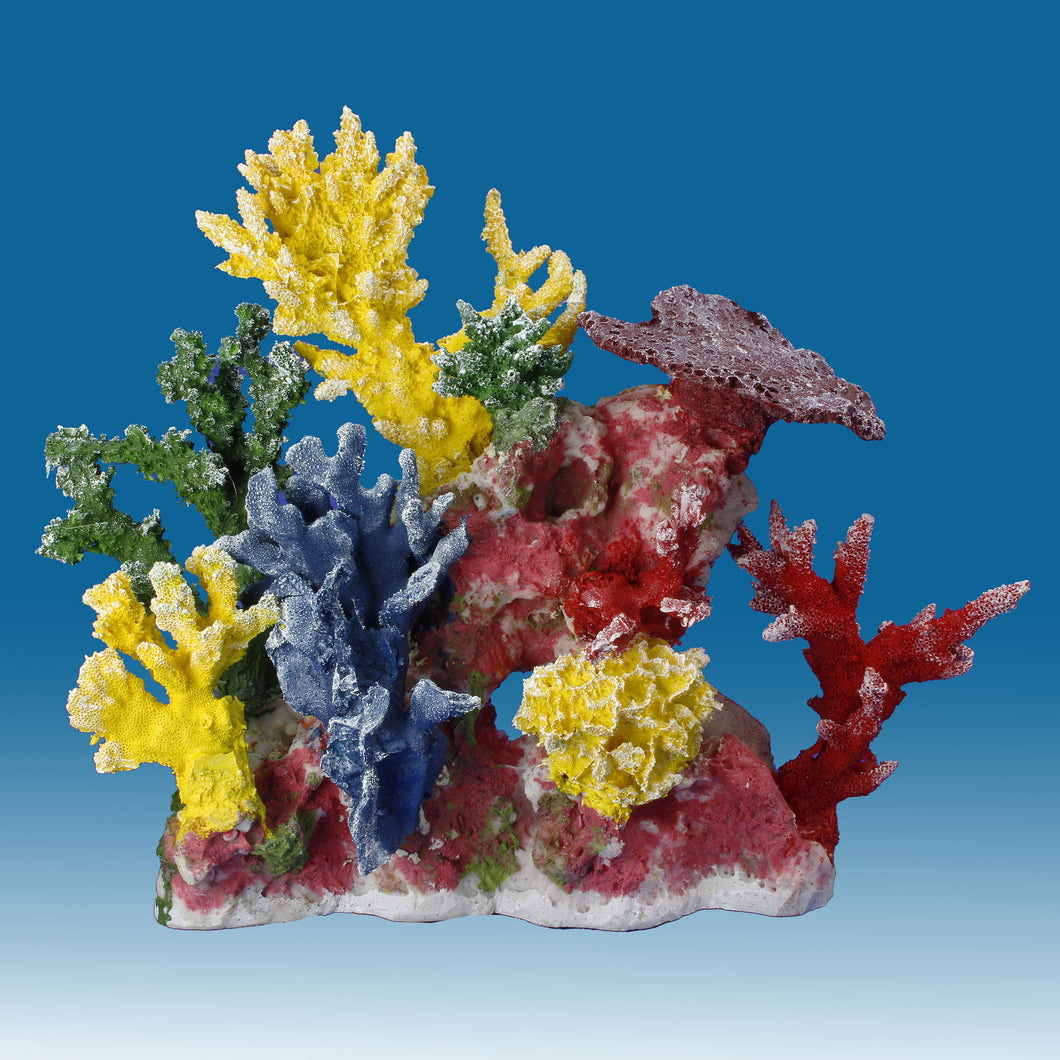 DM055 Small Coral Reef Tank Décor for Salt Water Fish Aquariums