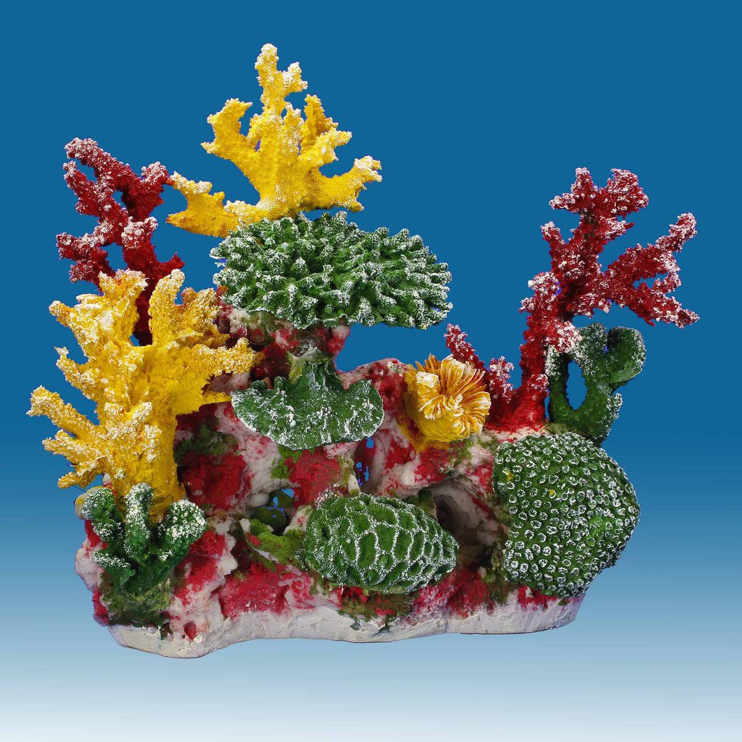 DM056 Small Coral Reef Tank Décor for Salt Water Fish Aquariums