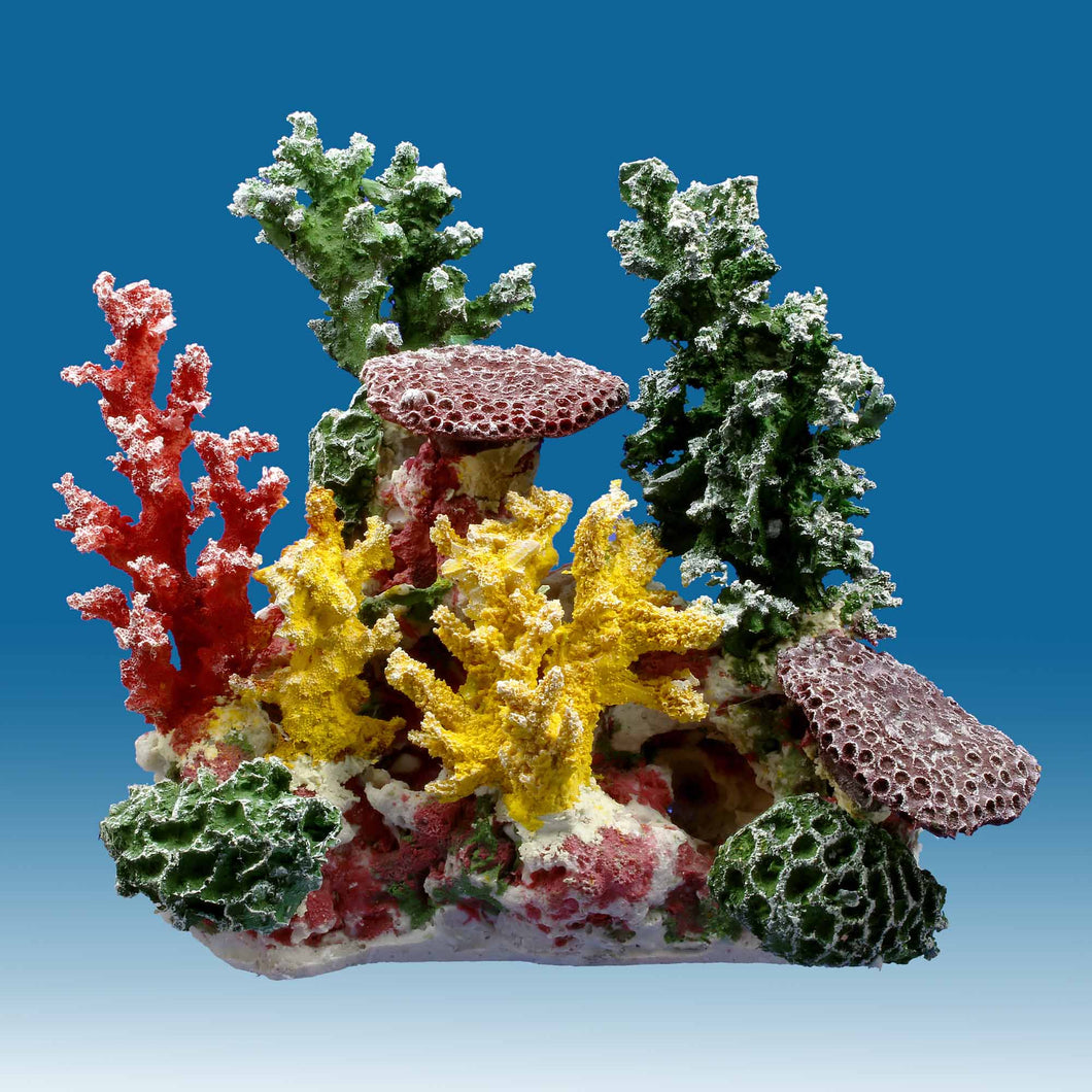 DM058 Small Coral Reef Tank Décor for Salt Water Fish Aquariums