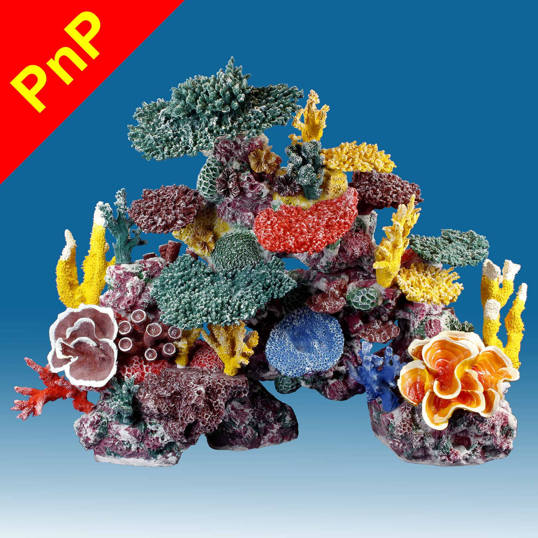 DM060PNP X-Large Fake Coral Reef Tank Decoration for Saltwater Fish Aquariums