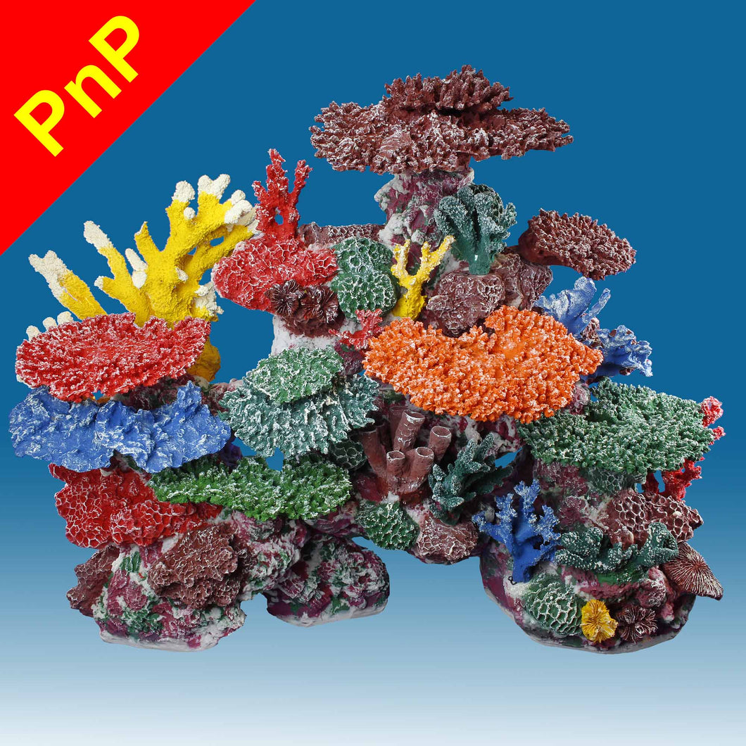 DM061PNP X-Large Fake Coral Reef Tank Decoration for Saltwater Fish Aquariums