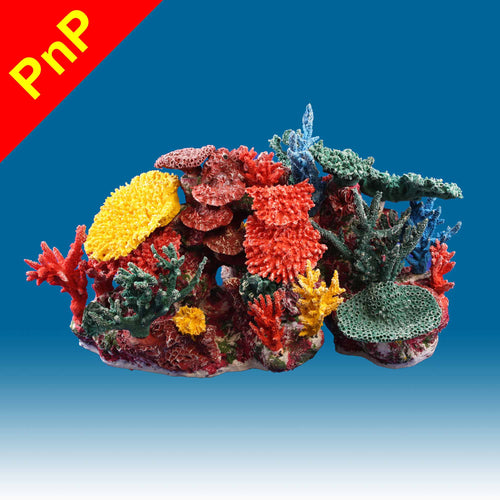 INSTANT REEF® DM064PNP Coral Reef Aquarium Decor for Marine Fish Tanks