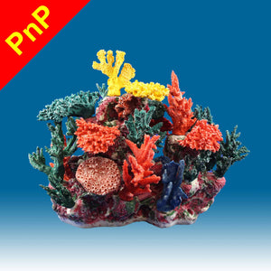 INSTANT REEF® DM065PNP Coral Reef Aquarium Decor for Marine Fish Tanks