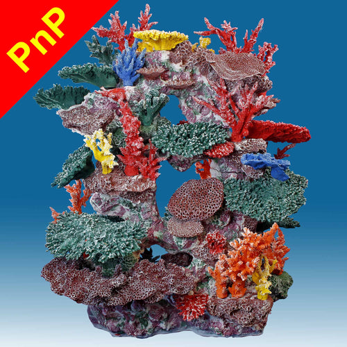 DM067PNP X-Large Tall Coral Reef Fish Tank Decoration for Saltwater Aquariums