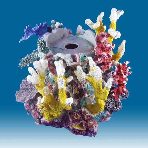 INSTANT REEF® R041A Cylinder Aquarium Decoration for Marine Fish Tanks