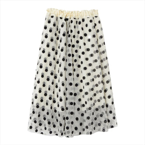 Dot pattern tulle skirt