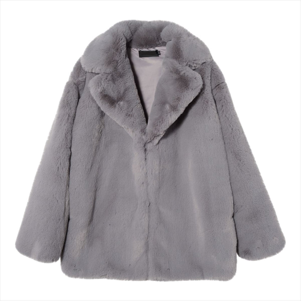 Fur coat/gray