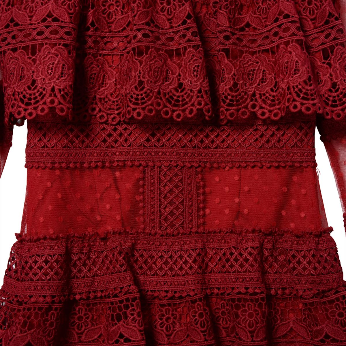 Lace mini length dress/wine