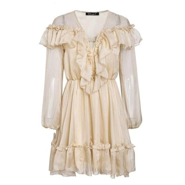 Ruffle elegant dress