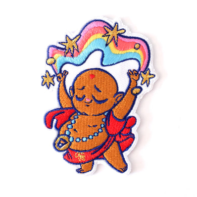 Rainbow Buddha Iron-On Patch