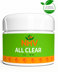 NHV Natural Pet Products All Clear. 100% natural Ointment for skin dermatitis and other pet skin problems.