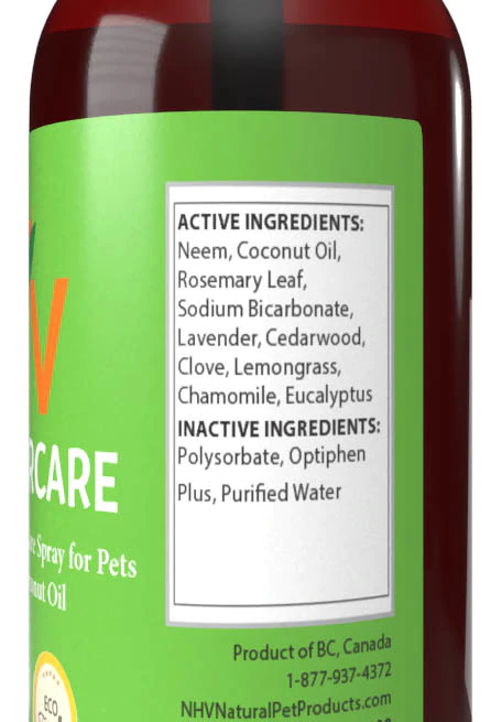 NHV Natural Pet Products Coco Furcare. Support for healthy skin and coat and protection against external parasites that gives a fresh, natural scent.