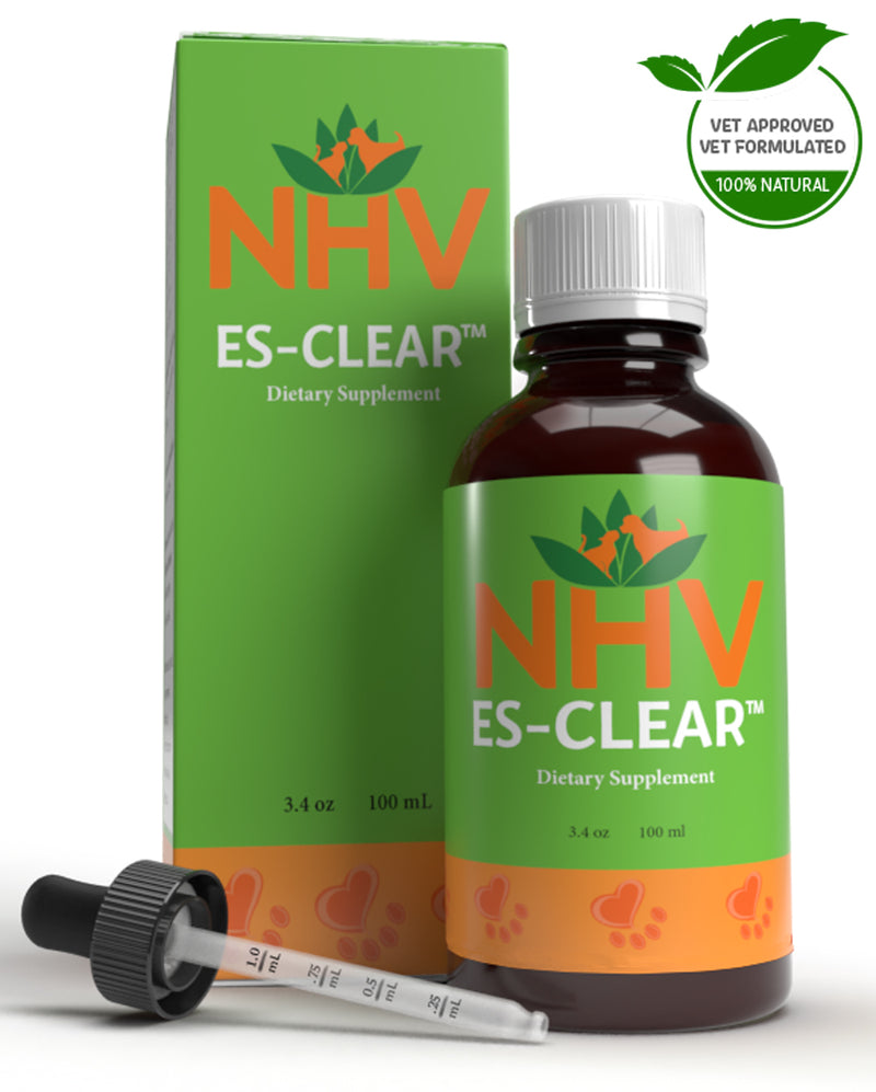 NHV Natural Pet Products. All-natural ES Clear helps manage the symptoms of cancer in cats and dogs. This vet-formulated supplement will support your pets overall immunity, health, and well-being.
