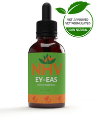 Ey-Eas NHV Natural Pet Product to manage painful swelling and restore eye health from pink eye (conjunctivitis) and watery eyes.