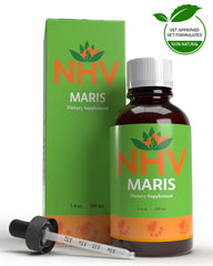 NHV Maris natural holistic support, herbal supplement for pet constipation. NHV Natural Pet Products.