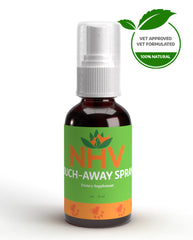 NHV Ouch Away. NHV Natural Pet Products spray for dermatitis, skin infections and irritations in cats and dogs.