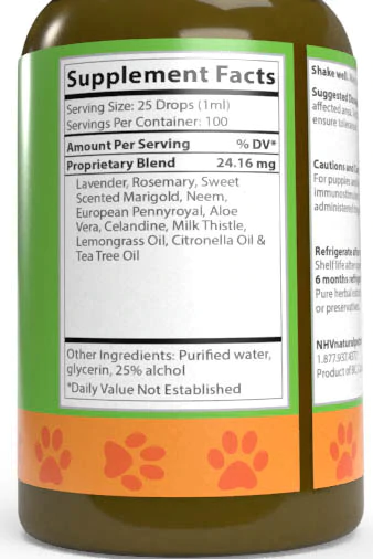 NHV Target Spray for fleas, ticks, lice and mosquitoes in cats and dogs.