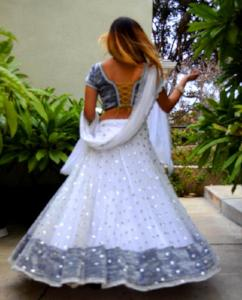 I Dream of Snow-Gopi Skirt Lehenga