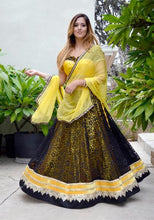 Load image into Gallery viewer, Bumble Bee-Gopi Skirt Lehenga
