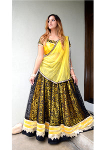 Bumble Bee-Gopi Skirt Lehenga