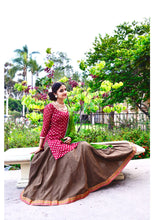 Load image into Gallery viewer, Autumn Fusion - Gopi Skirt Lehenga