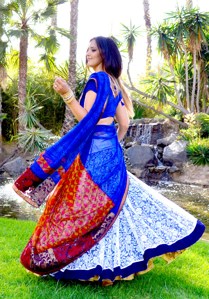 Dancing with the Wind - Lehenga Saree