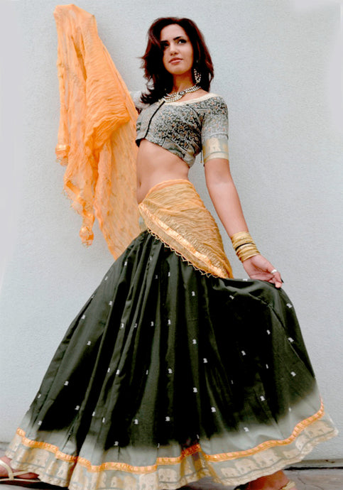 Forest Sunset - Gopi Skirt Lehenga